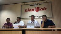 Pihak Lion Air menggelar konferensi pers mengenai laporan KNKT (Liputan6.com/ Ady Anugrahadi)