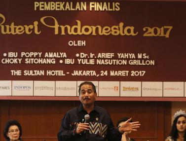 Menpar Beri Pembekalan ke Finalis Puteri Indonesia 2017