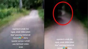 Viral, Video Penampakan Pocong di Jalan Sepi Ini Bikin Merinding