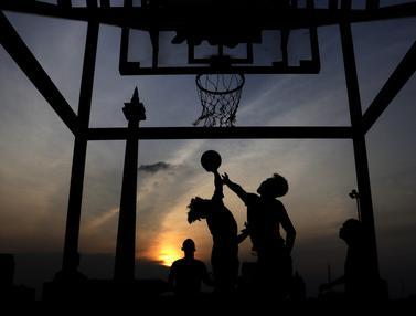 olahraga di kawasan Monas