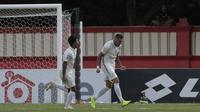 Striker asal Ukraina, Yevhen Bokhasvili memborong dua gol PSS Sleman ke gawang Bhayangkara FC di Stadion PTIK, Jakarta, Jumat (4/10/2019). (Bola.com/Yoppy Renato)