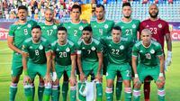 Timnas Aljazair di Piala Afrika 2019. (AFP/Giuseppe Cacane)