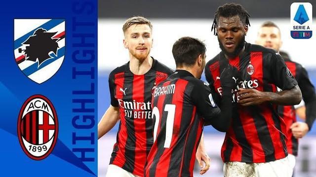 Berita video highlights Liga Italia 2020/2021 antara Sampdoria melawan AC Milan yang berakhir dengan skor 1-2, Senin (7/12/2020) dinihari WIB.