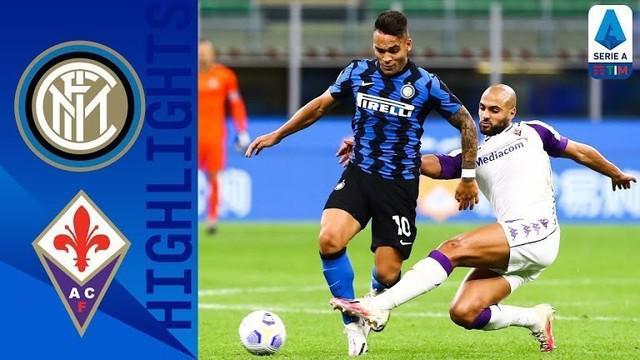 Berita Video highlights Liga Italia, Inter Milan kalahkan Fiorentina 4-3, Sabtu (26/9/20)