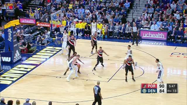 Berita video game recap NBA 2017-2018 antara Denver Nuggets melawan Portland Trail Blazers dengan skor 104-101.