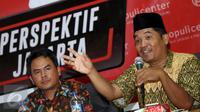 Pengamat politik, Ray Rangkuti memberi pandangan saat diskusi bersama komisioner KPUD DKI Jakarta di gedung KPUD Jakarta, Kamis (12/1). Diskusi membahas Menakar Efektifitas Debat, Meraih Simpati Publik. (Liputan6.com/Helmi Fithriansyah)