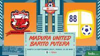 Shopee Liga 1 - Madura United Vs Barito Putera (Bola.com/Adreanus Titus)