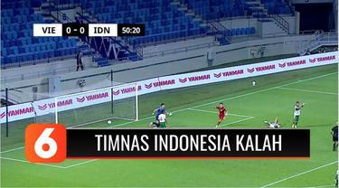 Timnas Sepak bola Indonesa kembali menelan kekalahan, melawan Vietnam, dalam lanjutan kualifikasi Piala Dunia 2022, dengan skor telak, 0-4. Indonesia yang sudah tersisih, semakin terpuruk di dasar klasemen Grup G dengan nilai satu.