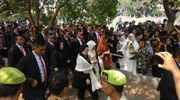Presiden ke-5 RI Megawati di lokasi pemakaman BJ Habibie, Kamis (12/9/2019).