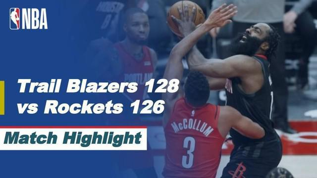 Berita video, Portland Trail Blazers berhasil raih kemenangan atas Houston Rockets berkat tembakan terakhir CJ Mc Collum