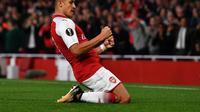Alexis Sanchez turut mencetak gol saat Arsenal menundukkan FC Koln pada Matchday-1 Grup H Liga Europa. (doc. UEFA)