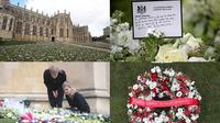 Kastil Windsor banjir karangan bunga. (Instagram/@windsor.royal.family)