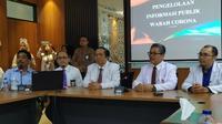 Konferensi pers di Rumah Sakit Universitas Airlangga (RSUA) pada Rabu (11/3/2020). (Foto: Liputan6.com/Dian Kurniawan)
