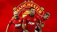 Manchester United - Paul Scholes, Ryan Giggs, Bryan Robson (Bola.com/Adreanus Titus)