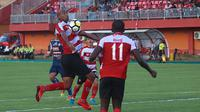 """Striker Madura United, Alberto """"Beto"""" de Paula belum sekali pun mencetak gol. (Bola.com/Aditya Wany)"""