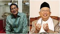 Kegiatan Ma'ruf Amin dan Sandiaga Uno, ketika Presiden Jokowi dan Prabowo akan bertemu (Sumber: Instagram/@sandiuno/@khmarufamin_)