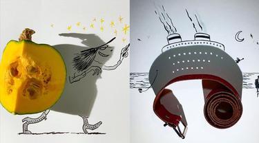 6 Karya Seni dari Bayangan Ini Kreatif Banget, Bikin Kagum