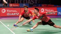 Indonesia kalah 1-4 dari India pada laga pertama penyisihan Grup 1D Piala Sudirman 2017, Minggu (23/5/2017). Satu angka Indonesia dipersembahkan Kevin Sanjaya Sukamuljo/Marcus Fernaldi Gideon. (PBSI)