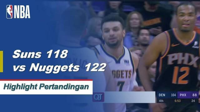 Jamal Murray mencetak 46 poin dan 8 assist saat Nuggets menang atas Suns, 122-118.