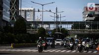 Kamera CCTV terpasang di Jalan MH Thamrin, Jakarta, Selasa (28/1/2020). Direktorat Lalu Lintas Polda Metro Jaya akan menerapkan tilang elektronik untuk pengendara sepeda motor di Jalan Sudirman-MH Thamrin dan jalur Koridor 6 Transjakarta mulai awal Februari 2020. (Liputan6.com/Faizal Fanani)