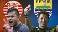 Piala Menpora - Persija Jakarta Vs Persib Bandung - Head to Head Kiper (Bola.com/Adreanus Titus)