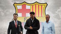 Barcelona - Louis van Gaal, Frank Rijkaard, Johan Cruyff (Bola.com/Adreanus Titus)