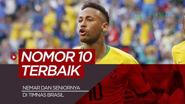 Berita motion grafis nomor 10 terbaik Timnas Brasil, Neymar di urutan ke 5?