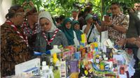 Badan Pengawas Obat dan Makanan (BPOM) RI telah menjadikan Pasar Cihapit, Kota Bandung sebagai pilot project Program Pasar Aman. (Liputan6.com/Aditya Prakarsa)