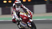 Pembalap Honda Team Asia, Andi Gilang di Moto3 Doha. (Honda Team Asia)