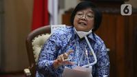 Menteri Lingkungan Hidup dan Kehutanan Siti Nurbaya Bakar (Liputan6.com/Helmi Fithriansyah)