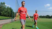 Granit Xhaka mengaku merasa terhormat bisa bermain bersama Jack Wilshere di Arsenal. (doc. Arsenal FC)