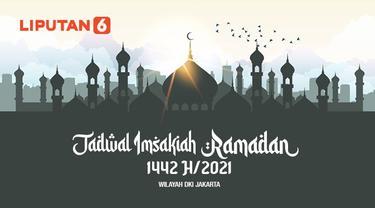 Banner Infografis Jadwal Imsakiah Ramadan 1441 Hijriah Wilayah DKI Jakarta. (Liputan6.com/Abdillah)