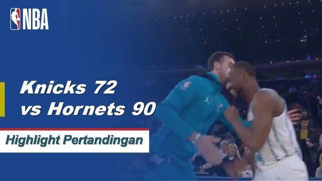 Kemba Walker mencetak 25 poin untuk menambah enam assist dan enam rebound ketika Hornets menang atas Knicks, 119-107.