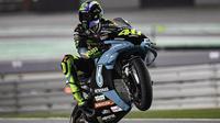 Pembalap Petronas Yamaha SRT, Valentino Rossi. (Twitter/Petronas Yamaha SRT)
