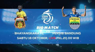 Berita video teaser big match pekan ke-7 BRI Liga 1 2021/2022, Bhayangkara FC kontra Persib Bandung yang akan ditayangkan di Indosiar dan Vidio, Sabtu (16/10/2021) malam hari WIB.