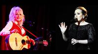Dolly Parton merasa tersanjung mendapatkan kesempatan berkolaborasi bersama penyanyi berbakat Adele.