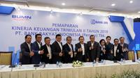 Pemaparan Kinerja Keuangan Triwulan II Tahun 2019 PT Bank Rakyat Indonesia (Persero) Tbk di Gedung BRI 1 - Lantai 21, Jakarta, Rabu (14/8).
