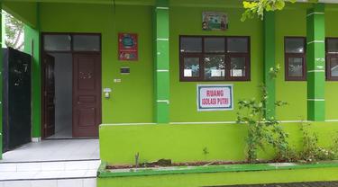 Salah satu bangunan di Pondok Pesantren Nashrul Ummah di Desa Mejobo, Kabupaten Kudus, Jawa Tengah sebagai tempat isolasi bagi pasien Covid-19. (Istimewa)