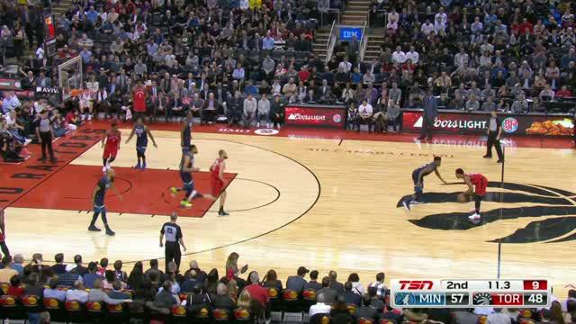 Berita video game recap NBA 2017-2018 antara Toronto Raptors melawan Minnesota Timberwolves dengan skor 109-104.