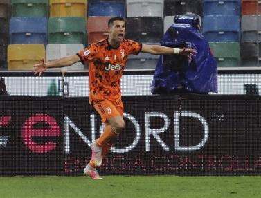 Dramatis, 2 Gol Ronaldo Antar Juventus Bungkam Udinese