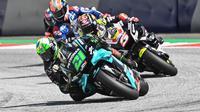 Petronas Yamaha mengonfirmasi Franco Morbidelli tak mengalami cedera parah usai terlibat insiden mengerikan di MotoGP Austria. (AFP/Joe Klamar)