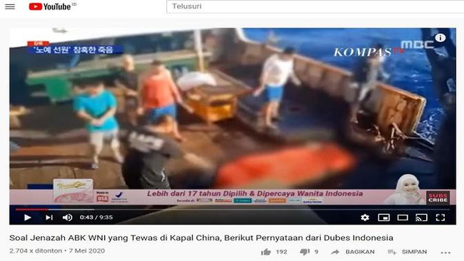 Gambar Tangkapan Layar Video dari Channel YouTube KOMPASTV