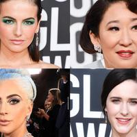 Tatanan rambut dan makeup selebriti paling gemilang di red carpet Golden Globes 2019. (Foto: istimewa)