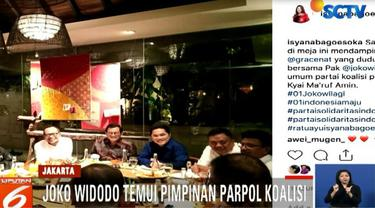 Sehari jelang debat pertama, Komisi Pemilihan Umum mempersiapkan ruangan tempat debat digelar di Hotel Bidakara, Pancoran, Jakarta Selatan.