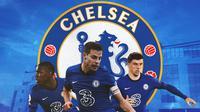 Chelsea - Kurt Zouma, Cesar Azpilicueta, Mason Mount (Bola.com/Adreanus Titus)