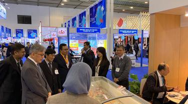 BNI KCLN London berpartisipasi dalam Seafood Expo Global (SEG) yang diselenggarakan di Brussels. Dok BNI