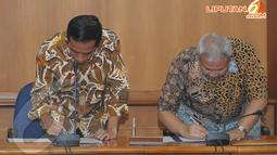 Kunjungan Jokowi dalam rangka memperpanjang kerjasama terkait tata kota DKI Jakarta, Kamis (17/04/2014) (Liputan6.com/Herman Zakharia).