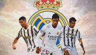 Real Madrid - Cristiano Ronaldo, Raphael Varane, Alvaro Morata (Bola.com/Adreanus Titus)
