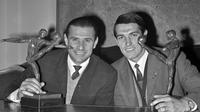 Legenda tim nasional Rusia, Lev Yashin (kiri). (AFP)
