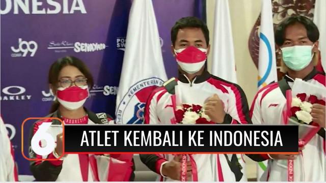 Menteri Pemuda dan Olahraga Zainudin Amali menyambut sejumlah atlet dan official dari kontingen Indonesia yang telah kembali ke Tanah Air.